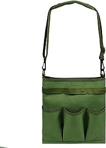 Garden Tool Bag Shoulder Crossbody Tool Bag Canvas Storage Bag Gardening Garden Pruning Tool Bag