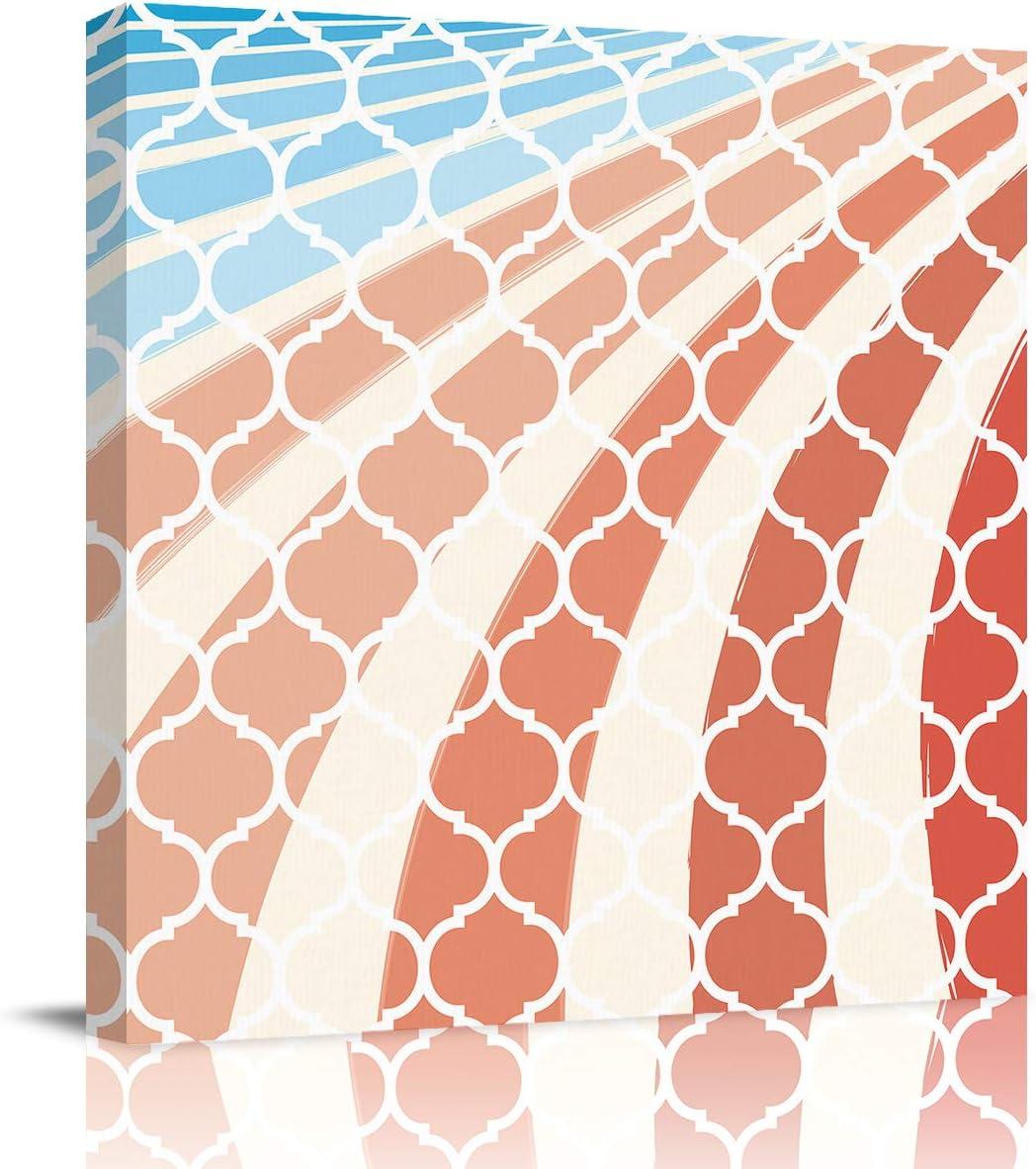Max 60% OFF Genuine Free Shipping VCFUN Canvas Wall Art Painting Moroccan Artwork Plaid Decor Pi