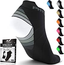 Physix Gear Sport Compression Running Socks for Men & Women - Best for Plantar Fasciitis & Stamina