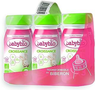 Babybio Lait Croissance Liquide - 3ème âge dès 10 Mois - 6x25Cl - BIO Fabriqué en France & Lait français - Formule PREMIUM...
