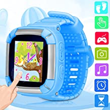 Smart Watch for Kids Game Smartwatch with Camera Recorder Touch Screen Electronic Learning Timer Alarm Clock Outdoor Digital Wrist Watch Bracelet for Child Boys Girls Holiday Birthday Gifts (Blue)