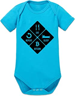 Shirtcity Eat Sleep Bitcoin Repeat Baby Strampler by