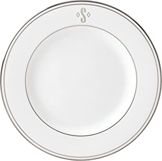Lenox Federal Platinum Block Monogram Dinnerware Salad Plate, S