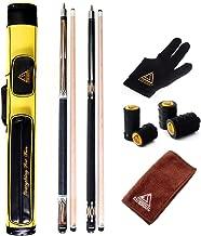 CUESOUL House Bar Pool Cue Sticks,Two Cue Sticks + 2x2 Pool Cue Case Hard