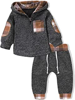 Kids Toddler Infant Baby Boys Girls Fall Outfit Plaid...