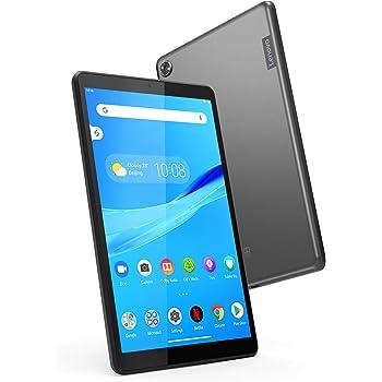 """Lenovo Tab M8 Tablet 8"""" HD Android Procesador Quad-Core, 2 GHz, 16 GB de Almacenamiento, Cubierta de Metal Completa, Larga duración de la batería, Android 9 Pie, ZA5G0102US, Color Negro pizarrón"""