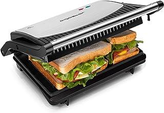 Aigostar York – Appareil grill, paninis, sándwichs 0% BPA de 750W. Ouverture à 180º pour deux superficies de cuisson, plaq...