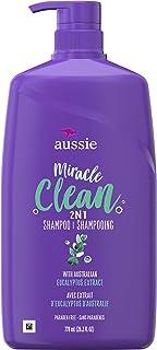 Aussie Miracle Clean 2 合 1 带桉树提取物,适合暗发,26.2 液体盎司(4 瓶装)