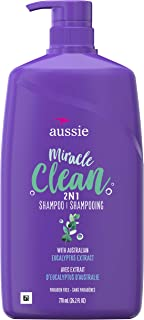 Aussie Miracle Clean 2 in 1 with Eucalyptus Extract for Dull Hair, 26.2 Fluid Ounce (Pack of 4)