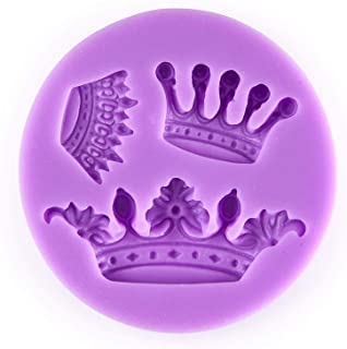 UG LAND INDIA 3 Mini Queen Crown Set Silicone Chocolate Fondant Candy Mold High Definition Quality Cupcake DIY Topper Cake...