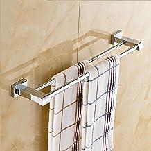 Dubbelpolige badkamerhanddoekenbeugel, volledig koperen handdoekenrek, handdoekhouder aan de muur, badkameraccessoires-A 3...