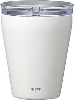 シービージャパン タンブラー ホワイト 食洗機対応 240ml 保温 保冷 ステンレス製 セラミック加工 透明ふた付きき ELタンブラー Mlte