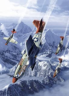 Posterazzi Tuskegee airmen of the 332nd fighter group flying near the Alps in their P-51 Mustangs Poster Print (8 x 10)