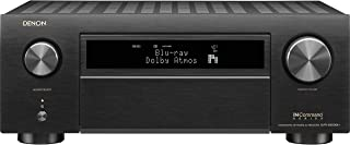 Denon AVR-X6500H Receiver - 8 HDMI In /3 Out, High Power 11.2 Channel (140 W/Ch) Amplifier Home Theater   Dolby Surround Sound, Music Streaming with Alexa + HEOS   Audyssey MultEQ Advanced Calibration