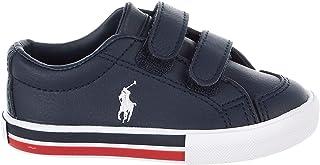 POLO RALPH LAUREN Edmund EZ Sneaker (M065 M US Toddler, Navy/Red)