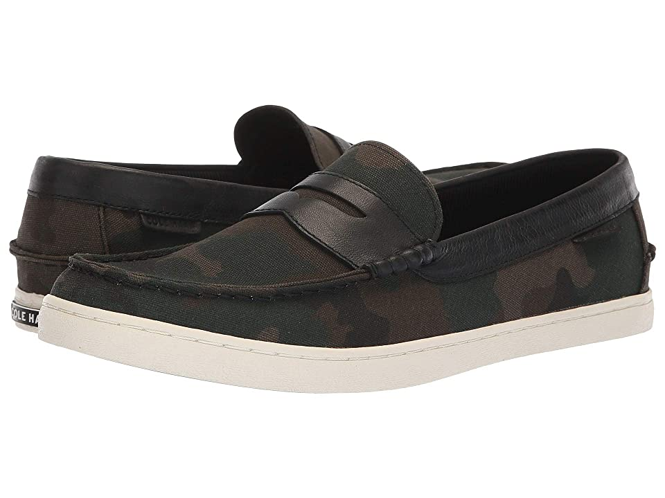 Cole Haan Nantucket Loafer (Camo Canvas/Black/Optic White) Men