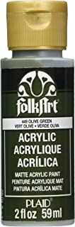 FolkArt Acrylic Paint in Assorted Colors (2 oz), 449, Olive Green
