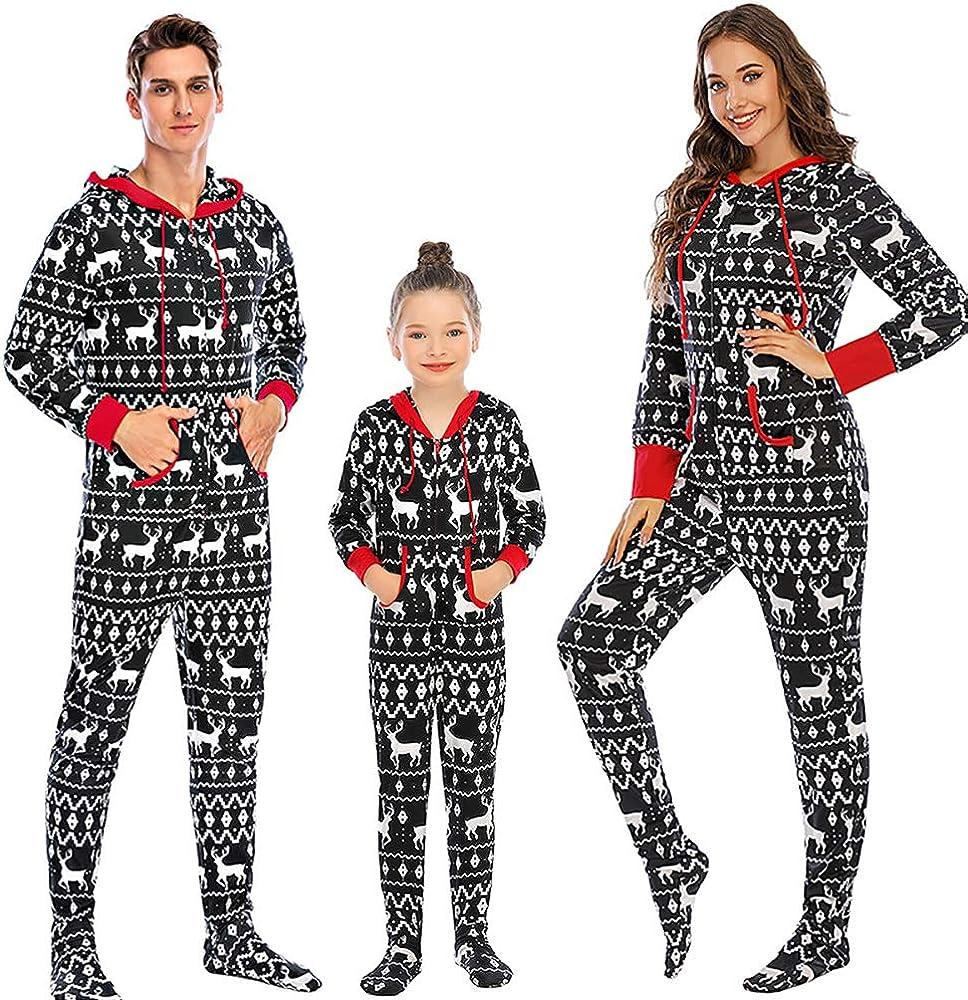 Nanxson Christmas Family Matching Pajamas Set Boys Girls Cartoon Sleepwear Long Sleeve PJS Set SQW0032 (Women-X-Large, Black-34)