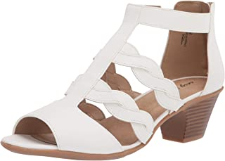 Easy Street Women Heeled Sandal, White, 8.5 us medium