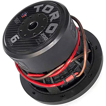 """Toro Tech – Fierce 6, 6.5 Inch 200 Watts RMS – 400 Watts MAX – Dual 4 Ohm 1.5 Inch Voice Coil, 6.5"""" Car Audio Subwoofer for Cars, Trucks, Jeeps, Boats, Off Road with Hard Hitting Bass (Sold As Each)…"""