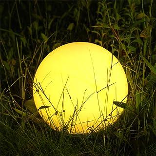 Albrillo RGB Luz Solar de Jardin - Iluminacion Exterior LED de Globo de 25cm- Lampara Esfera con 8 Colores Ajustables- IP68 Impermeable- Carga por Solar y USB- Luz Solar para Cesped- Piscina- Patio