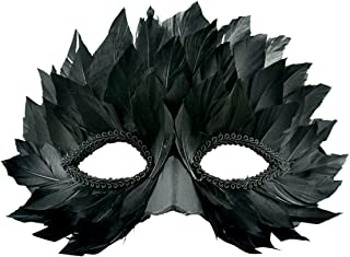 Touch of Nature 48150 Black Feathered Half Mask