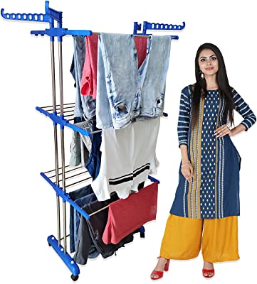 TNC Double Pole - 3 Layer Cloth Drying Stand / Rack