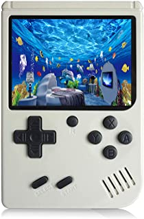 JAFATOY Retro Handheld Games Console for Kids/Adults, 168 Classic Games 8 Bit Games 3 inch Screen Video Games with AV Cable Play on TV (White)