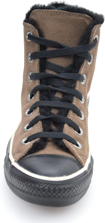 Converse ALL Star Scarpa Sneaker Donna CAMOSCIO Marrone Scuro Nero ...