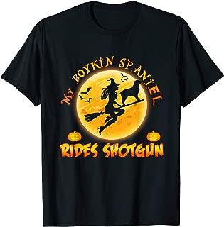 My Boykin Spaniel Dog Rides Shotgun Halloween Costumes Dogs T-Shirt