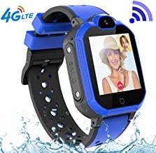 4G GPS Kids Smartwatch Phone - Boys Girls Waterproof Watch with GPS Locator 2 Way Call Camera Voice & Video Chat SOS Alarm Pedometer WiFi Wrist Watch Birthday Back to School Gifts for Students,4G Blue