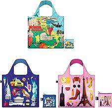حقائب تسوق قابلة لإعادة الاستخدام أوربان هاي ستوديو من لوكي، مجموعة من 3 قطع، إيطاليا، نيويورك، باريس