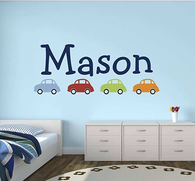 CELYCASY Name Wall Decal Baby Name Decals Name Decal for Nursery Custom Name Decal Name Stickers Nursery Name Decal Toy Box Decal