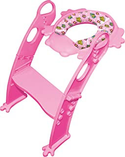 6 COLORS to CHOOSE. Mr Frog - Potty training seat with ladder, toilet HELPER for real Princesses! (PINK )