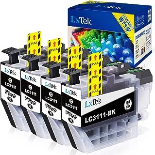 【LxTek】Brother用 ブラザー LC3111-bk ブラック 4本セット LC3111bk 黑4本 lc3111-4pk『互換インク/2年保証/大容量/残量表示/個包装』
