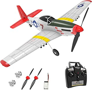 Top Race RC Plane 4 Channel Remote Control Airplane Ready to Fly RC Planes for Adults,Advanced RC Foam Airplane for Adults, Remote Control War Plane P51 Mustang Upgraded with Propeller Saver