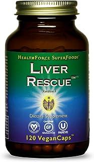 HealthForce SuperFoods Liver Rescue - 120 Vegan Capsules - All Natural Liver Detoxifier with Milk Thistle & Dandelion Root...