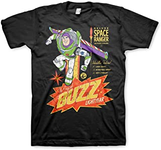 TOY STORY Officially Licensed The Original Buzz Lightyear Mens T-Shirt (Black)