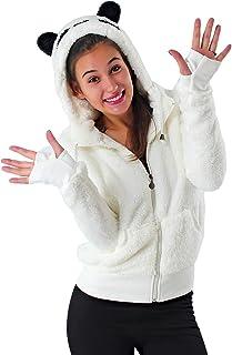 582bd4c4a20a7 Sweat à capuche femme zippé sweatshirt panda blanc noir choud jumper pull  oreille sweat-shirt
