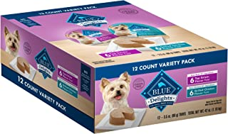 Blue Buffalo Divine Delights Natural Adult Small Breed Wet Dog Food Cups Variety Pack, Top Sirloin Flavor in Savory Juice and Grilled Chicken Flavor in Savory Juice 3.5-oz (12pack- 6 of each flavor)