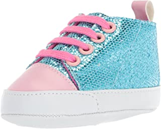 Luvable Friends Baby-Girl's Sparkly Sneaker Crib Shoe