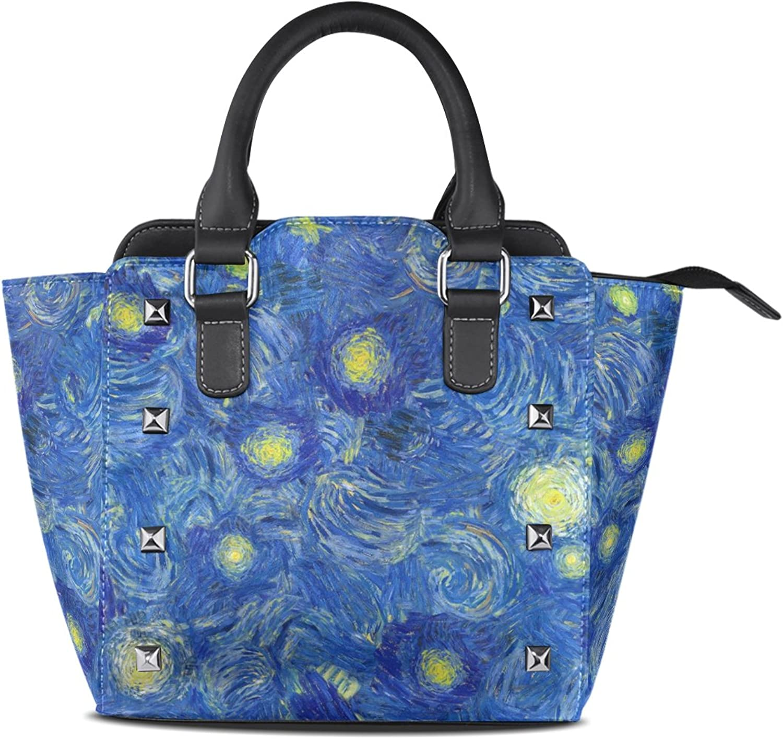 My Little Nest Women's Top Handle Satchel Handbag Abstract Oil Paints Pattern Ladies PU Leather Shoulder Bag Crossbody Bag