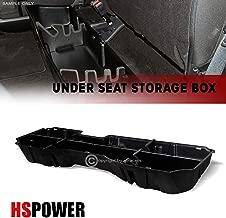 HS Power 2014-2018 for Chevy Silverado/GMC Sierra Crew Black Gearbox Under Seat Storage Case Cargo Box