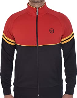 Mens Orion Casual Track Jacket - Black/Red - L