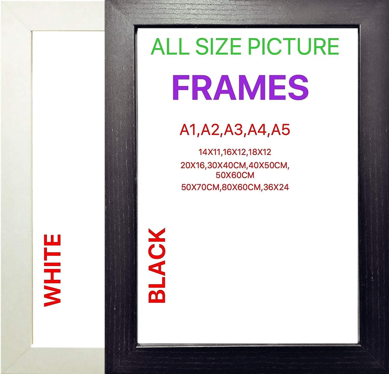 Picture Frame Poster Frames Black White White A2 42x59 4 Cm Amazon Co Uk Kitchen Home