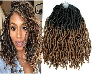 2X Wavy GYPSY 6Packs Nu Locs Curly Faux Locs Synthetic Crochet Pre-looped Braid 60g/Pcs Crochet Locs Synthetic Dreadlocks Kanekalon Wavy Faux Locs Crochet Hair 12Inch (T27,Light Brown)