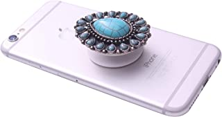 Collapsible Grip & Smart Phone Accessory for Cell Phone Self Adhesive Charm Tear Drop Concho No.26