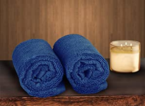 Fresh From Loom 100% Cotton 500 GSM Hand Towel Set of 2pc, Blue Color, 16x28 inch