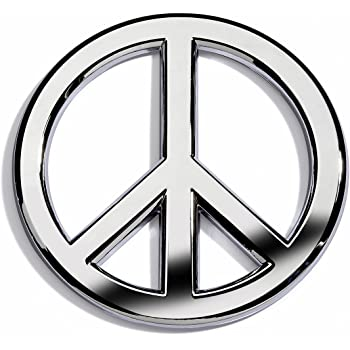 3 Magnetic Grill Badge//UV Stable /& Weather-Proof//Works Grill Badge Holder CD0479 GoBadges SIGN/_PEACE/_W/_B