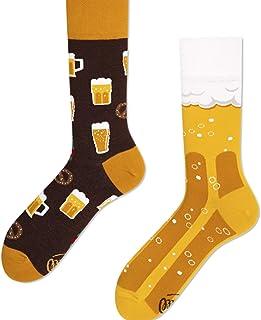 Calcetines de cerveza con patrones multicolores, algodón, regalo, jarra de cerveza, espuma